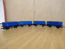 Hornby 00 Gauge 4 x Blue Wagons NEW UNBOXED