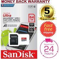 Sandisk SD Card 64GB  ULTRA SDHC Camera Flash Memory Class 10 + Adapter 64 GB