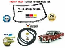 FOR MERCEDES HECKFLOSSE W110 W111 W112 1959-> FRONT + REAR WINDOW RUBBER SEAL