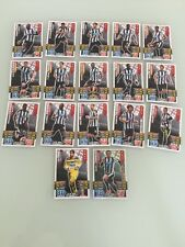 Newcastle United FC 2016 Topps Match Attax Cards Set Of 17