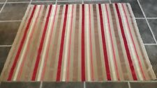 "DESIGNERS GUILD TRASIMENO BERRY PINK WHITE SILVER STRIPED FABRIC 42"" x 55"""