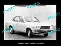 OLD POSTCARD SIZE PHOTO OF MAZDA 818 SEDAN 1974 LAUNCH PRESS PHOTO