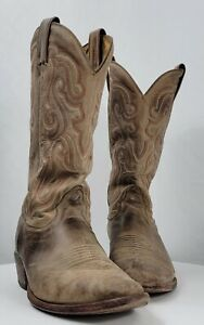 Nocona Men's Tan Vintage Cow Western Cowboy Boot Size 9.5 D MD2701 Worn In