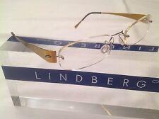 LINDBERG RIMLESS EYEGLASS SPIRIT TITANIUM LB2025 135 IRRIDESCENT PINK GOLD/SILVR