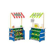 Melissa & Doug® Wooden Grocery Store and Lemonade Stand - Reversible Awn...