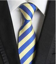 Tie Cravatta Con Fazzoletto Blu & Giallo Chiaro