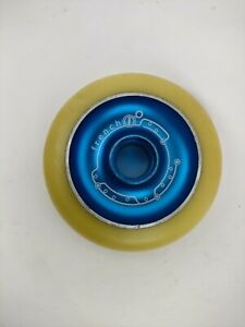 1 Pair (2) 100mm Alloy metal Core Scooter Wheels Free Bearings & Free Delivery