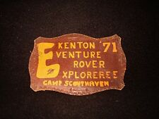 BOY SCOUT CAMP SCOUTHAVEN   1971  LEATHER  EXPLORER PATCH  GNFC  NY