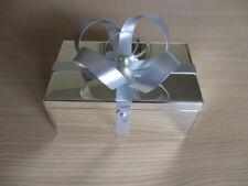 Christmas Holiday Silver Metal Ribbon ft Box