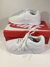 Nike Womens Size 6 Tanjun White Athletic Running Training Shoes F3-108