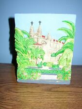 Ceramica Marquez Painted Clay Wall Plaque Cathedral RFA700 made in Spain