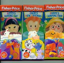 Lot of 3 Fisher Price Little People board  Books NEW Kitty Zach camping