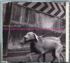 Pet Shop Boys   CD-SINGLE ( PROMO)   I DON'T KNOW WHAT YOU WANT BUT I CAN'T GIVE