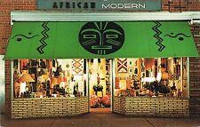 New York City NY~African Modern Store~Primitive Art~African Handicrafts~Postcard
