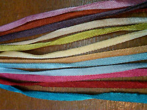"Flat 1/4"" Satin Double Cord 5mm Tape 1yd Made in France"