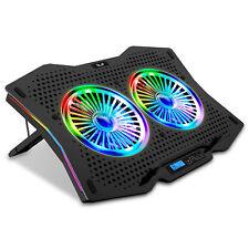 SK Notebook Laptop LCD Kühler RGB Rainbow Ständer Cooler Lüfter 10-18 Zoll R710