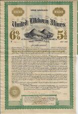 WEST VIRGINIA 1904 United Elkhorn Mines Bond Stock Certificate #112 Coal