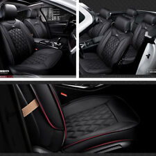 Car 5 Seat Cover Set 3D Full Surrounded PU Leather Breathable Black Four Season