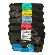 5PK color Label Tape Compatible for Brother TZ TZe 231 431 531 631 731 PT-H105