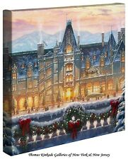 "Thomas Kinkade - Christmas at Biltmore®  – 14"" x 14"" Gallery Wrapped Canvas"