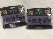 Harry Potter Deathly Hallows Rubber Bracelet NECA Purple Wrist Band Fan Apparel