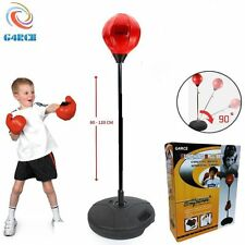 Kids Punch Ball Set Free Standing Childrens Adjustable Junior Boxing Bag Gloves