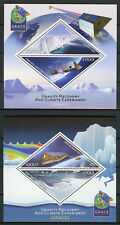 Ivory Coast 2017 MNH GRACE Gravity Recovery & Climate Experiment 2x 2v MS Stamps