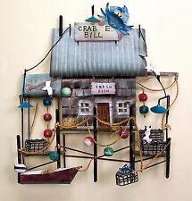 WALL ART - CRAB E BILL FISHING SHACK WALL SCULPTURE - NAUTICAL WALL DECOR