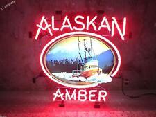 Huge 24X24 Inches New ALASKAN BREWING ALASKA AMBER REAL NEON SIGN BEER BAR LIGHT