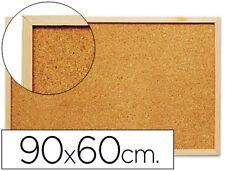 Pizarra corcho Q-connect 90x60 cm marco de madera (21814)