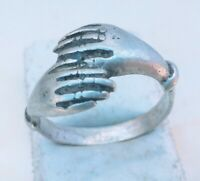 Rare Ancient Solid Ring Roman REAL Silver Stunning Artifact Rare TYPE