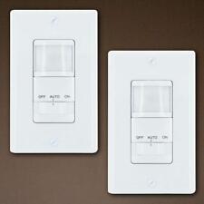 GE Motion Sensor Light Switch Timer, 2-Pack, White