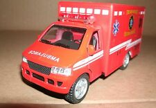1/45 Scale Ambulance Diecast Model - Fire Dept Paramedic Rescue - Friction Toy