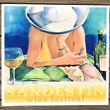 Sandestin Wine Festival Art Print Donna Burgess 2004 Signed Numbered