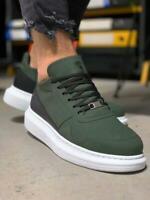 Knack 040 Sneakers | Khaki | Weiße Sohle | Herren Turnschuhe | Freizeitschuhe