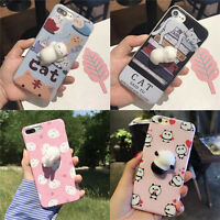 Kawaii Squishy 3D Lazy Cat Soft Silicone Back Case Cover for iPhone 6 6s 7 P  KP