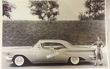 """12 By 18"""" Black & White Picture 1957 Oldsmobile 98 Starfire Holiday hardtop 4 do"""