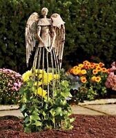 26''H Antiqued Metal Garden Angel Lawn Yard Patio Statue Outdoor Yard Art Decor