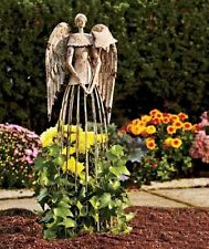 26'H Antiqued Metal Garden Angel Lawn Yard Patio Statue Outdoor Yard Art Decor