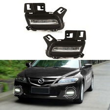 LED PAIR Fog Lights Lamps For Mazda6 2005 2006 2007 2008 2009 DRL w/ Bulbs LH&RH