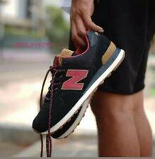 NIB Men's New Balance ML574OTD Black/Earth Red Life style sneakers