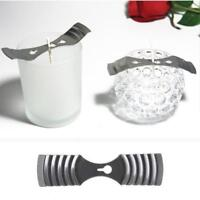 Diy handmade candle material candle holder fixer single/porous wax core clip