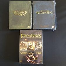 Lord Of The Rings DVD Box Sets 2 Special Extended Sets & Motion Picture Trilogy