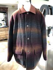 Noatak Mens Large Jacket Wool Blend Leather Collar Outdoor Sport Jacket