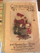 "SANTA PROFESSOR~Hanging Thread 16"" *RARE & OOP novelty cloth doll sewing pattern"