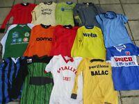 Lot 14 maillot vintage ADIDAS ERIMA LE COQ SPORTIF porté ancien NIKE taille M
