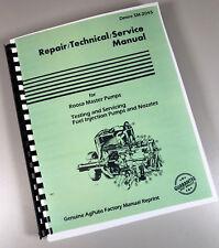 Service Manual for John Deere Diesel Bendix Scintilla Fuel Injection Pump Nozzle
