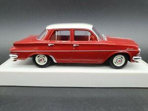 1962 EJ HOLDEN SPECIAL SEDAN NAMATJIRA RED-IVORY 1/43 SCALE DIECAST  TRAX TR39C