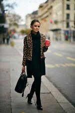 ZARA Leopard Print Coat Size S