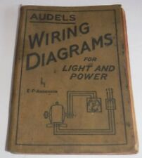 1941 Audels Wiring Diagrams for Light & Power Book E P Anderson